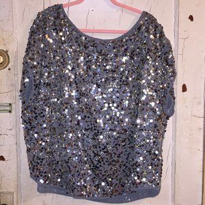 WD.NY Sequin Dolman Lined Shirt 3X NWT